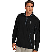 Antigua Men's Chicago White Sox Quarter-Zip Black Ice Pullover