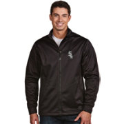 Antigua Men's Chicago White Sox Full-Zip Black Golf Jacket