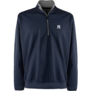 Antigua Men's New York Yankees Leader Navy Quarter-Zip Pullover