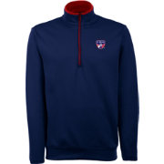 Antigua Men's FC Dallas Leader Navy Quarter-Zip Jacket
