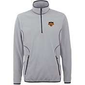 Antigua Men's Houston Dynamo Ice Silver Quarter-Zip Fleece Jacket