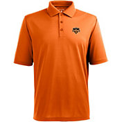 Antigua Men's Houston Dynamo Xtra-Lite Pique Performance Orange Polo