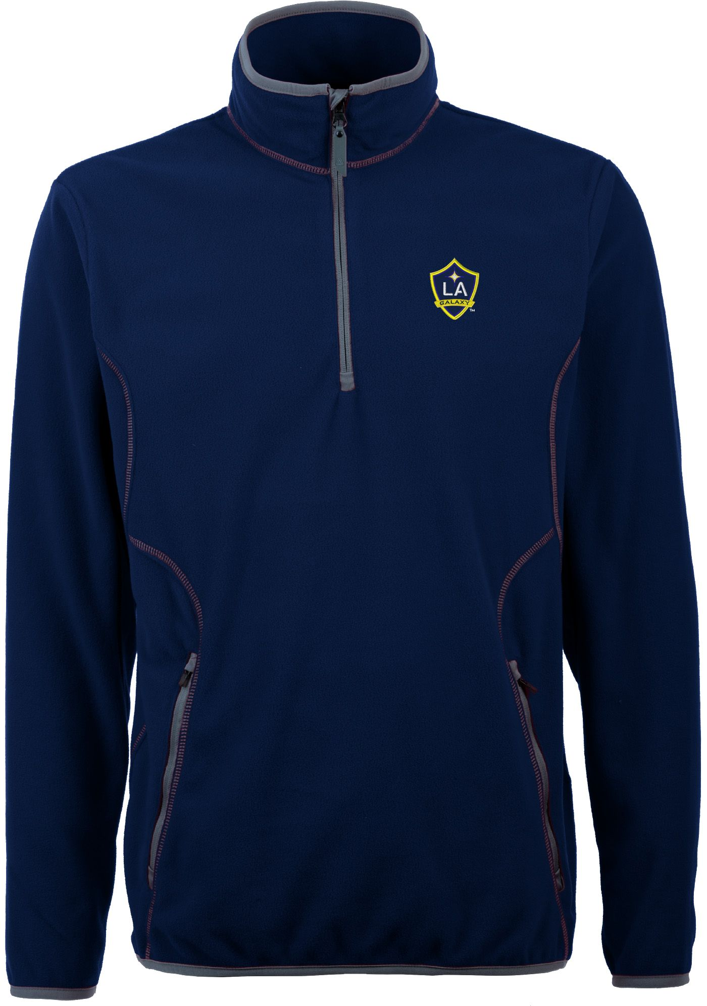 Antigua Men's Los Angeles Galaxy Ice Navy Quarter-Zip Fleece Jacket