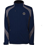 Antigua Men's Philadelphia Union Tempest Navy Full-Zip Jacket