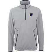 Antigua Men's San Jose Earthquakes Ice Silver Quarter-Zip Fleece Jacket