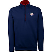 Antigua Men's New York Red Bulls Leader Navy Quarter-Zip Jacket