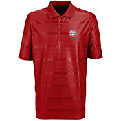Antigua Men's New York Red Bulls Illusion Red Performance Polo