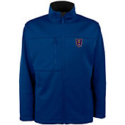 Antigua Men's Real Salt Lake Traverse Royal Soft-Shell Full-Zip Jacket