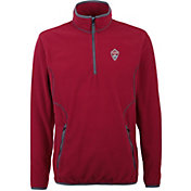 Antigua Men's Colorado Rapids Ice Red Quarter-Zip Fleece Jacket