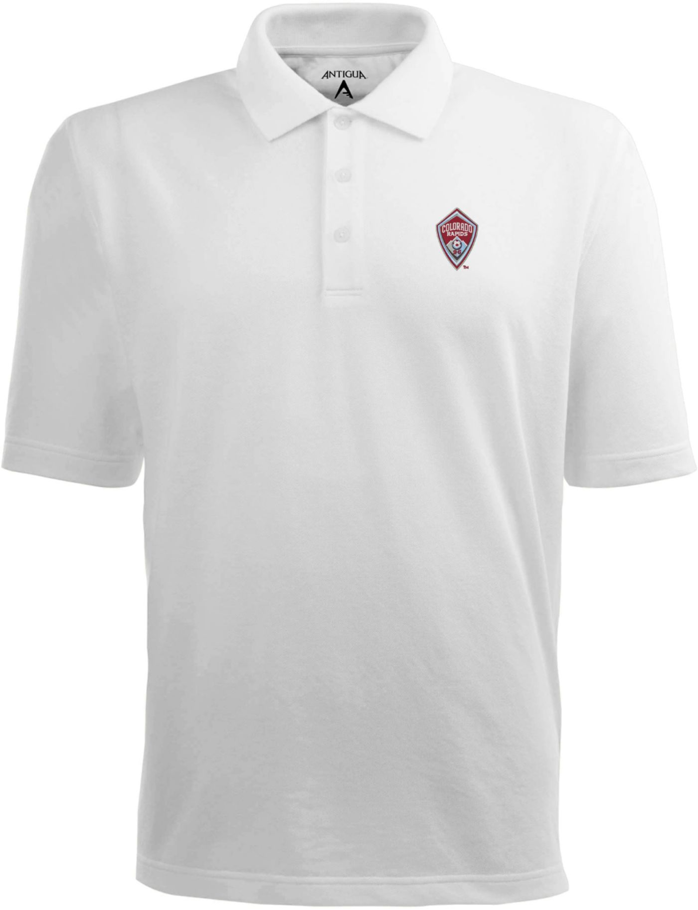 Antigua Men's Colorado Rapids Xtra-Lite Pique Performance White Polo