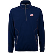 Antigua Men's New England Revolution Ice Navy Quarter-Zip Fleece Jacket