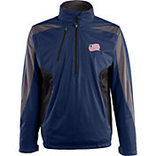 Antigua Men's New England Revolution Navy Discover Full-Zip Jacket
