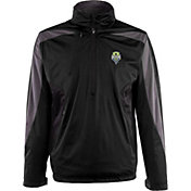 Antigua Men's Seattle Sounders Black Discover Full-Zip Jacket