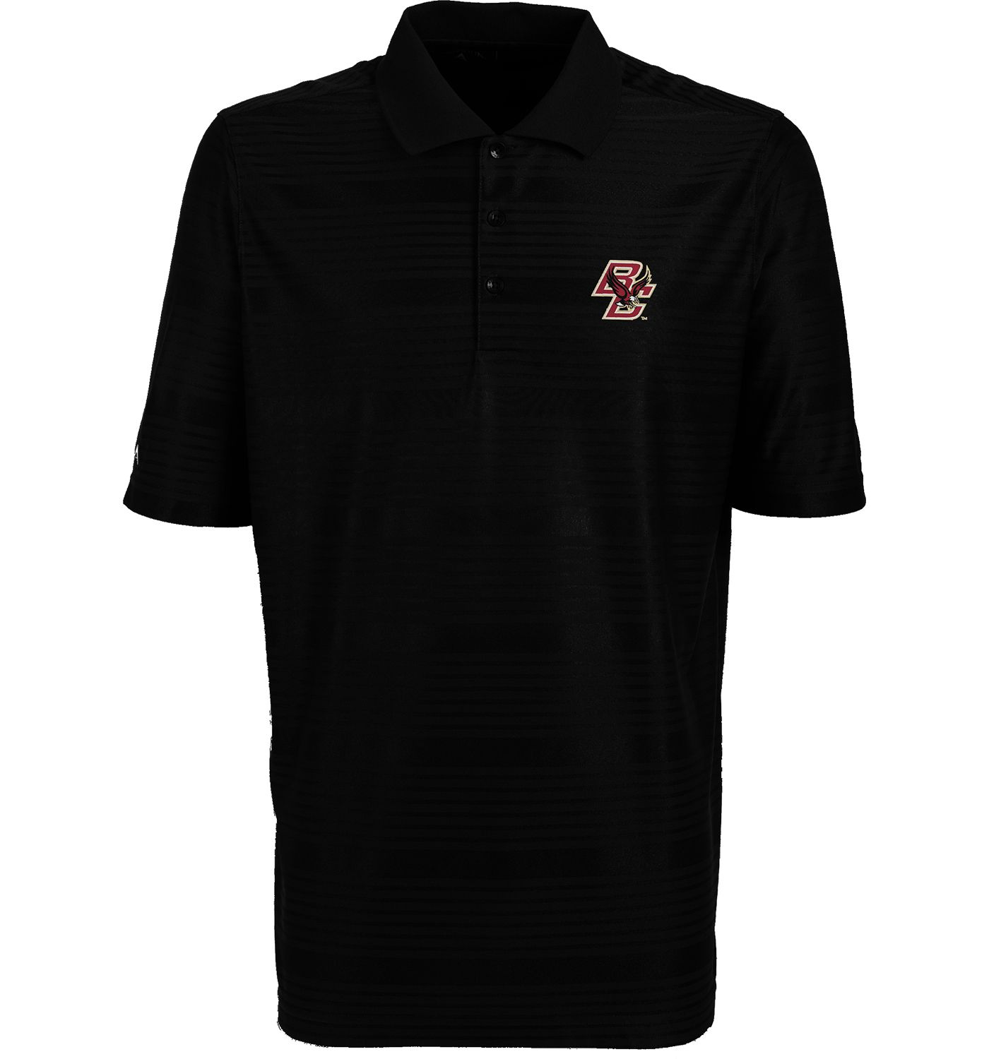 Antigua Men's Boston College Eagles Black Illusion Performance Polo
