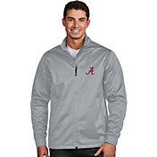Antigua Men's Alabama Crimson Tide Silver Performance Golf Jacket