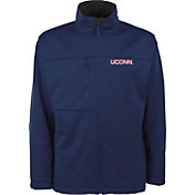 Antigua Men's UConn Huskies Blue Traverse Full-Zip Jacket