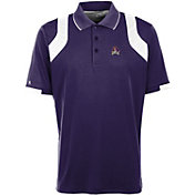 Antigua Men's East Carolina Pirates Purple Fusion Performance Polo