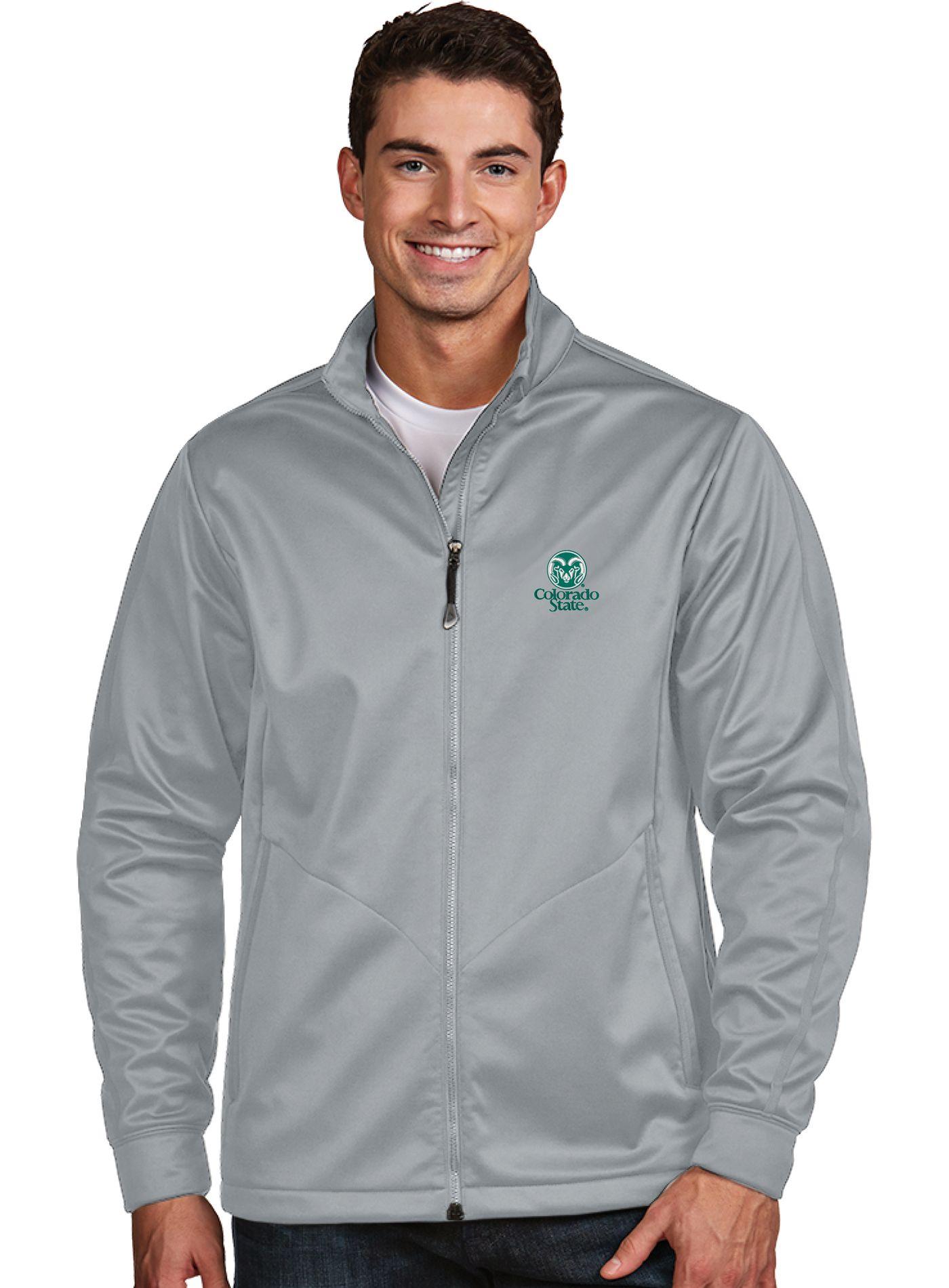 Antigua Men's Colorado State Rams Silver Performance Golf Jacket