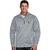 Antigua Men's Kansas Jayhawks Silver Performance Golf Jacket