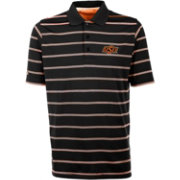 Antigua Men's Oklahoma State Cowboys Deluxe Performance Black Polo