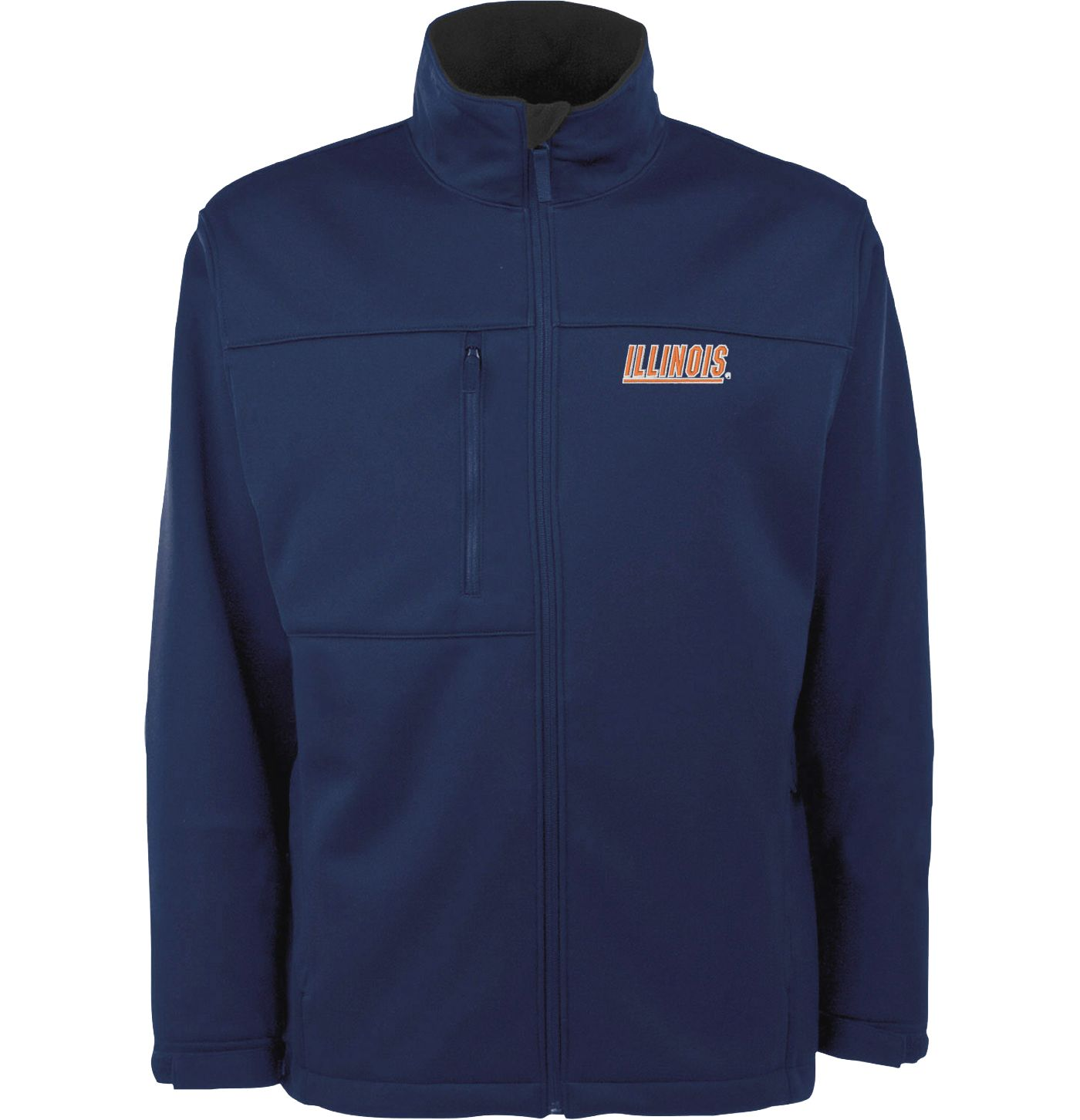 Antigua Men's Illinois Fighting Illini Blue Traverse Full-Zip Jacket