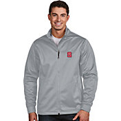 Antigua Men's North Carolina State Wolfpack Silver Performance Golf Jacket