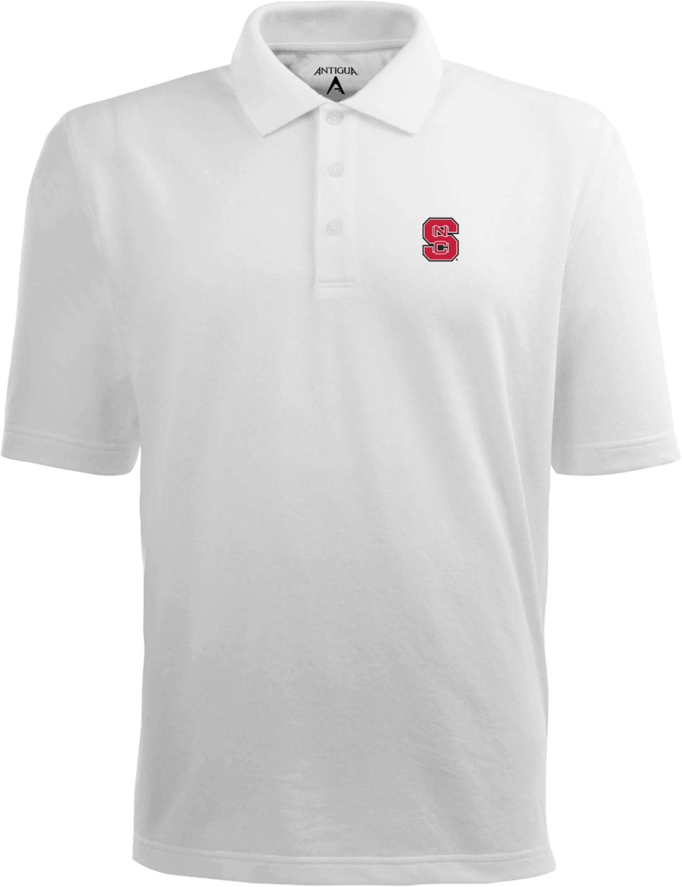 Antigua Men's NC State Wolfpack White Xtra-Lite Polo