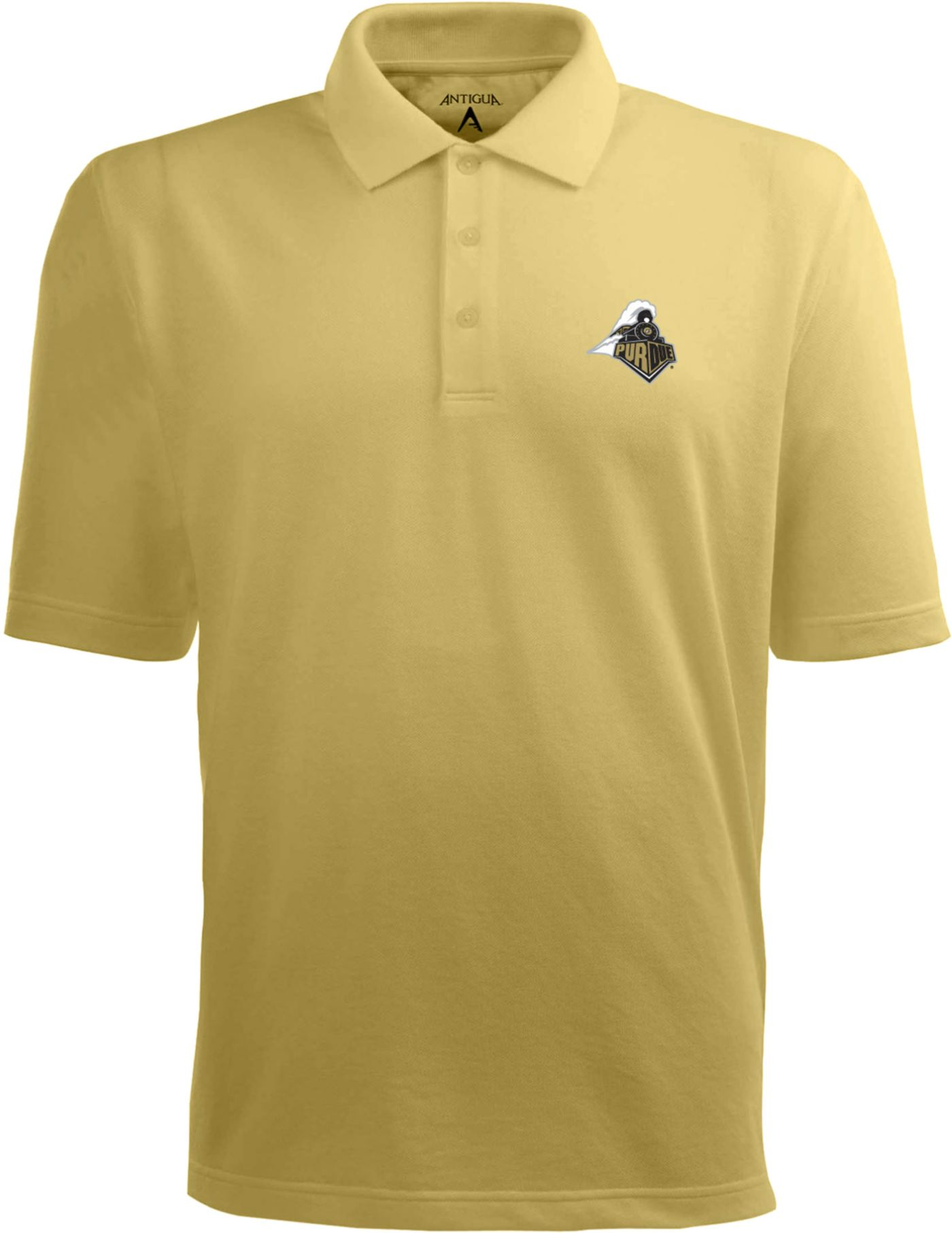 Antigua Men's Purdue Boilermakers Old Gold Xtra-Lite Polo