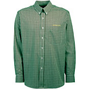 Antigua Men's Oregon Ducks Green Monarch Woven Long Sleeve Shirt