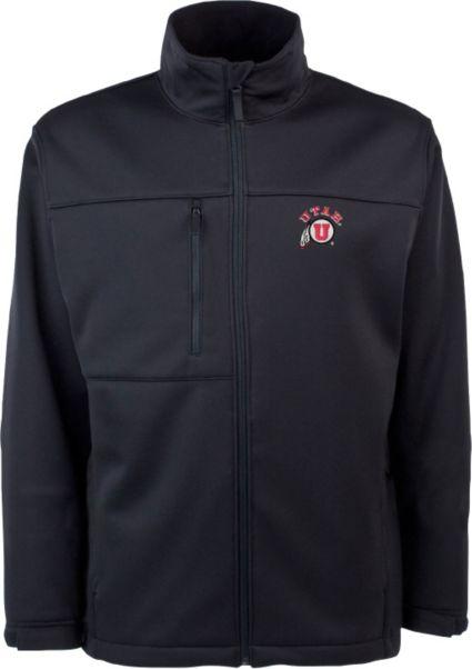 fb18faf4 Antigua Men's Utah Utes Black Traverse Full-Zip Jacket   DICK'S ...