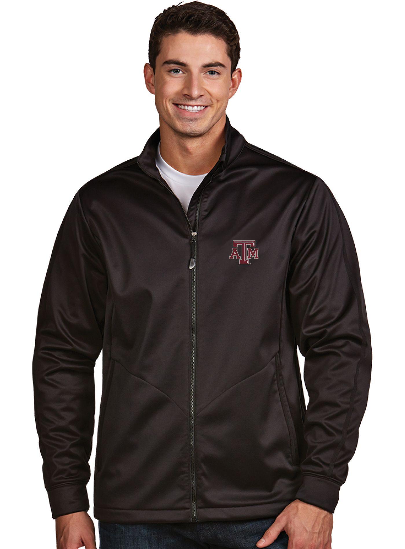 Antigua Men's Texas A&M Aggies Black Performance Golf Jacket