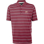 Antigua Men's Virginia Tech Hokies Maroon Deluxe Performance Polo