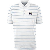 Antigua Men's Washington Huskies Deluxe Performance White Polo