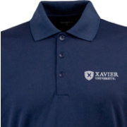 Antigua Men's Xavier Musketeers Blue Exceed Long Sleeve Performance Polo