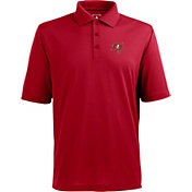 Antigua Men's Tampa Bay Buccaneers Pique Xtra-Lite Red Polo