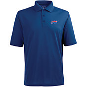Antigua Men's Buffalo Bills Pique Xtra-Lite Dark Royal Polo