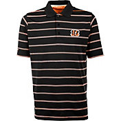 Antiqua Men's Cincinnati Bengals Black Deluxe Polo