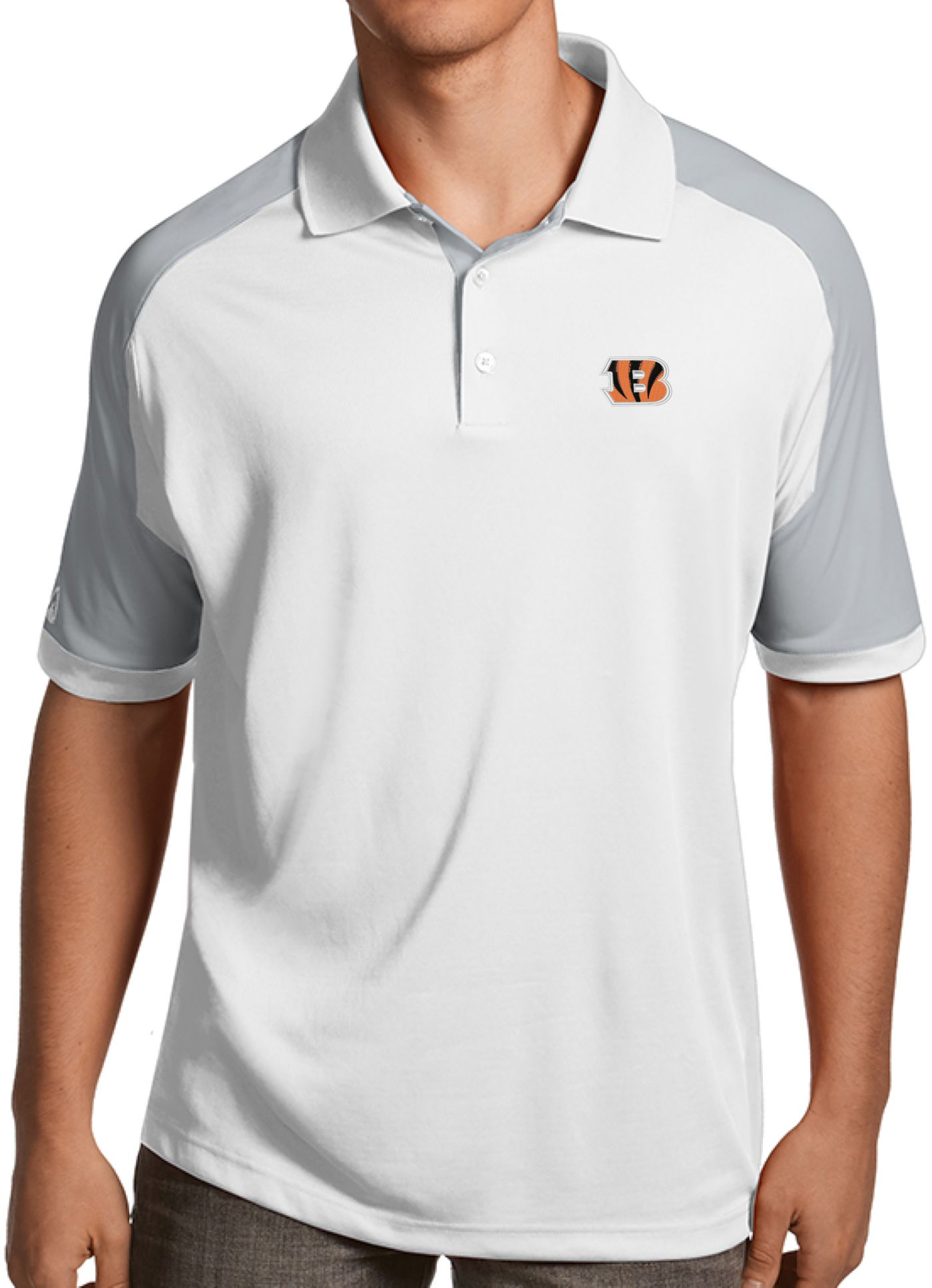 Antigua Men's Cincinnati Bengals Century White Polo