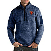 Antigua Men's Chicago Bears Fortune Navy Pullover Jacket