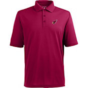 Antigua Men's Arizona Cardinals Pique Xtra-Lite Red Polo