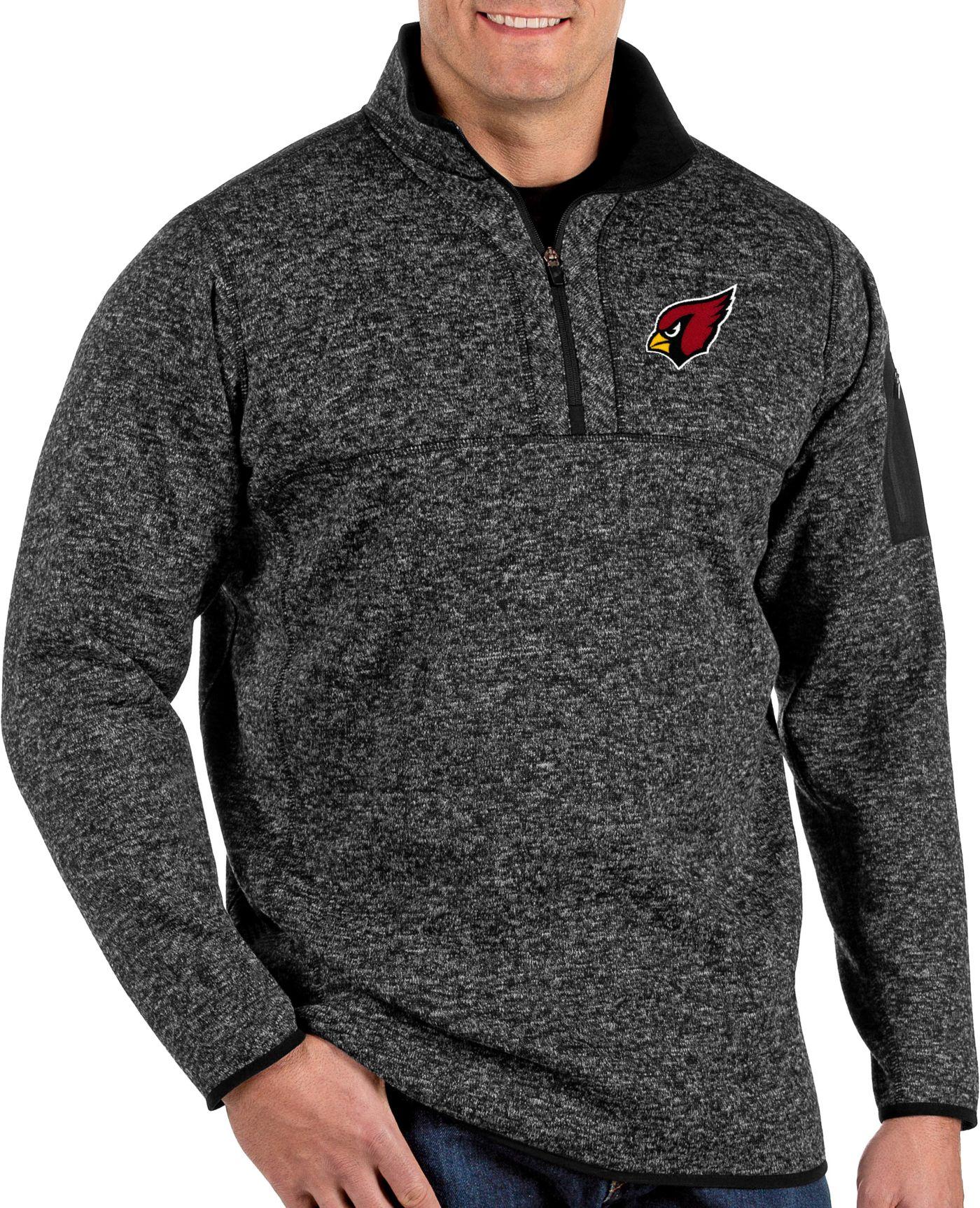 Antigua Men's Arizona Cardinals Fortune Black Pullover Jacket