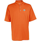 Antigua Men's Miami Dolphins Exceed Polo