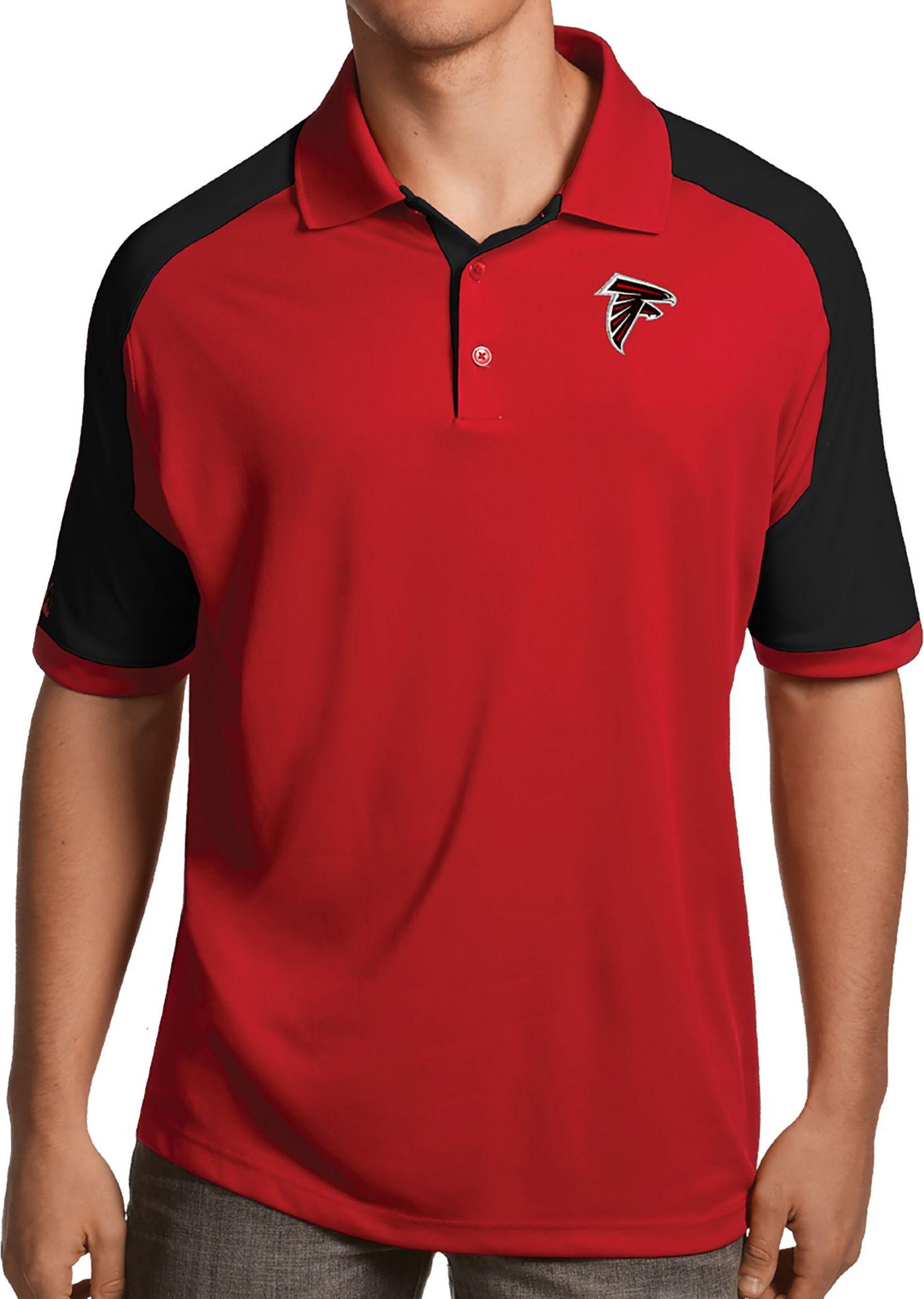 Antigua Men's Atlanta Falcons Century Red Polo