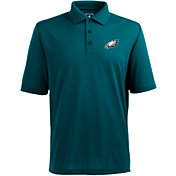 Antigua Men's Philadelphia Eagles Pique Xtra-Lite Green Polo