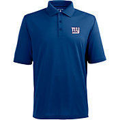 Antigua Men's New York Giants Pique Xtra-Lite Dark Royal Polo