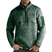 Antigua Men's New York Jets Fortune Green Pullover Jacket