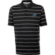 Antiqua Men's Detroit Lions Black Deluxe Polo