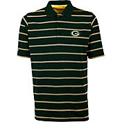 Antiqua Men's Green Bay Packers Deluxe Green Polo