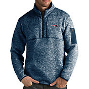 Antigua Men's New England Patriots Fortune Navy Pullover Jacket
