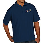 Antigua Men's Los Angeles Rams Pique Xtra-Lite Navy Polo